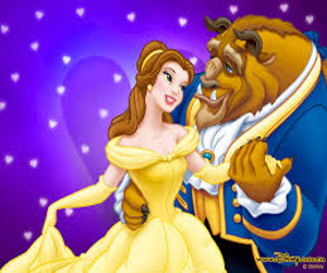 cartoon belle and the beast